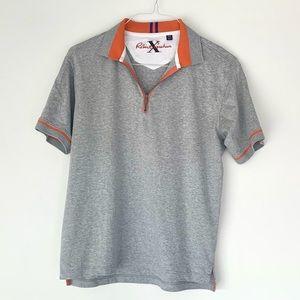 Robert Graham, Polo Grey with orange detail size M